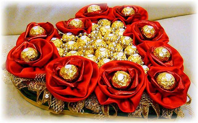 Как сделать оригинальный подарок из конфет