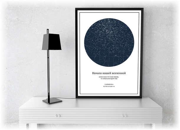 Памятный подарок «Карта звезд»
